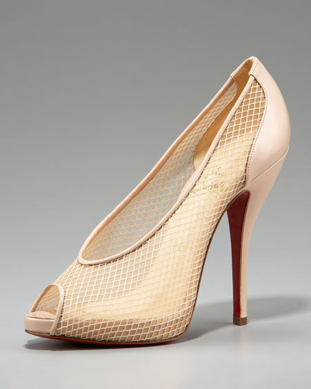 Christian Louboutin Patent Fishnet Pump