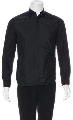 Neil Barrett Woven Quilted Dress Shirt