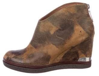 Donald J Pliner Canvas Ankle Boots