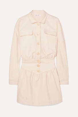 The Line By K - Theo Stretch-cotton Twill Mini Dress - Cream