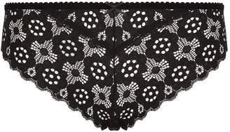 Fleur Du Mal Crochet Lace Brief