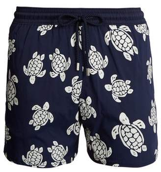 Vilebrequin Moorea Glow In The Dark Turtles Print Swim Shorts - Mens - Blue Multi