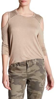 Seven7 Embellished Cold Shoulder Shirt