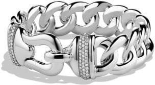 David Yurman Buckle Single-Row Bracelet With Diamonds, 19Mm
