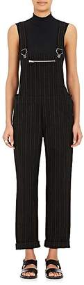 Regulation Yohji Yamamoto Women's Pinstriped Cotton-Blend Overalls