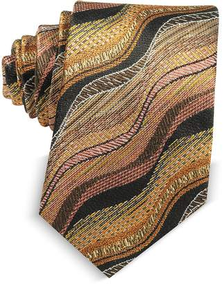 Missoni Waves Woven Twill Silk Men's Narrow Tie
