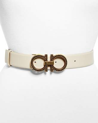 Salvatore Ferragamo New Gancini Chain Leather Belt