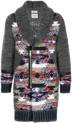 Coohem contrast cardi-coat