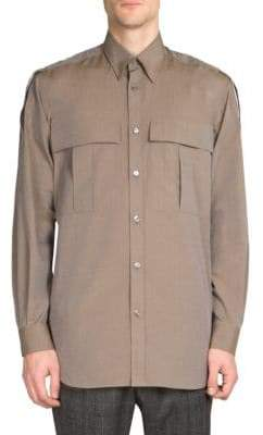 Stella McCartney Point Collar Cotton Casual Button-Down Shirt