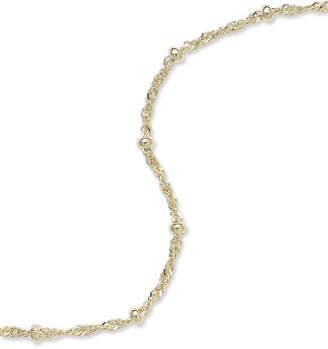 Giani Bernini 18K Gold over Sterling Silver Ankle Bracelet, Chain Anklet
