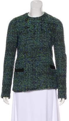 Proenza Schouler Button-Up Tweed Jacket
