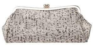 Nina Metallic Tweed Frame Clutch