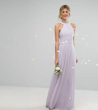 TFNC Tall Tall High Neck Pleated Maxi Bridesmaid Dress