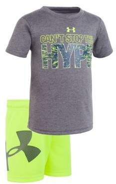 Under Armour Baby Boy's Can't Stop the Hype Tee and Shorts Set