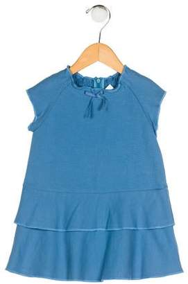 Cacharel Girls' Layered Crew Neck Dress