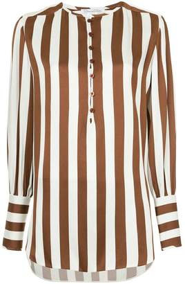 Oscar de la Renta longline striped shirt