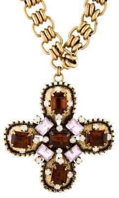 Tory Burch Faux Pearl & Resin Pendant Necklace