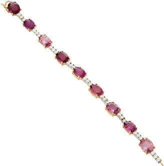 Irene Neuwirth One-Of-A-Kind 18K Gold Pink Tourmaline And Diamond Bracelet