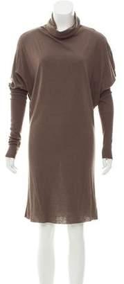 Rick Owens Lilies Angora-Blend Cowl Neck Dress