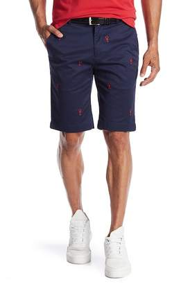 Brooks Brothers Lobster Embroidered Bermuda Shorts