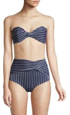 Jonathan Simkhai Striped Twist Bandeau Bikini Top
