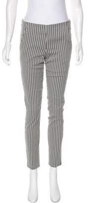 Waverly Grey Mid-Rise Geometric Pants
