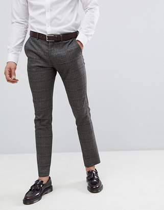 Selected Skinny Suit Pants In Check