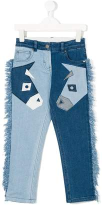 Stella McCartney Lohan donkey patch jeans