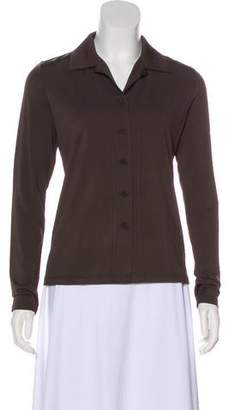 Issey Miyake Pointed Collar Long Sleeve Button-Up