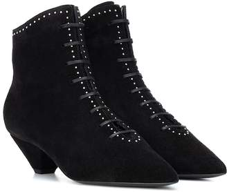 Saint Laurent Kate 45 suede ankle boots