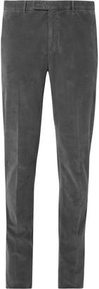 Boglioli Grey Slim-Fit Stretch-Cotton Corduroy Suit Trousers - Men - Gray