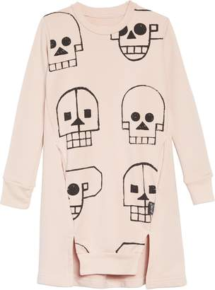Nununu Skull Robot Sweatshirt Dress