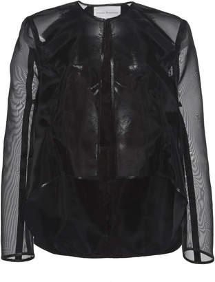Olivier Theyskens Trinol Sheer-Sleeve Organza Jacket