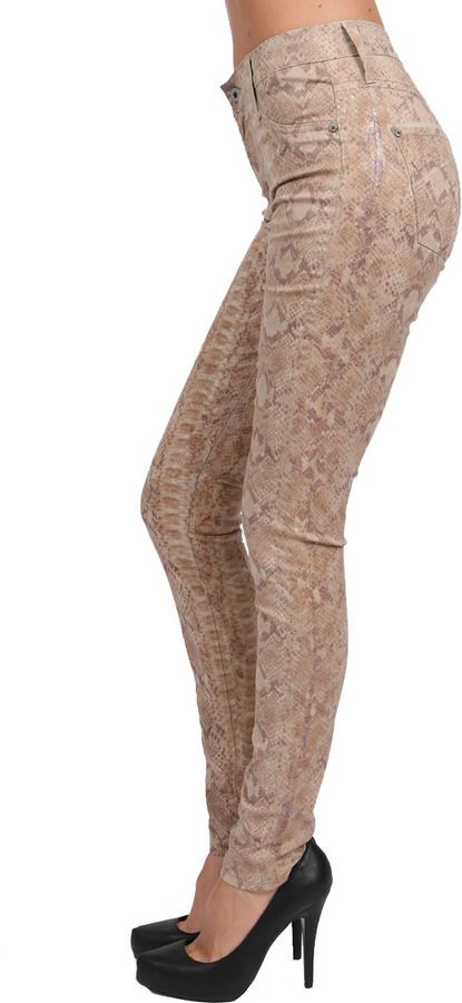 James Jeans Twiggy Skin Faux Pocket Legging in Python