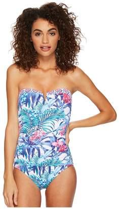 Tommy Bahama Majorelle Jardin Bandeau One-Piece Swimsuit Women's Swimsuits One Piece