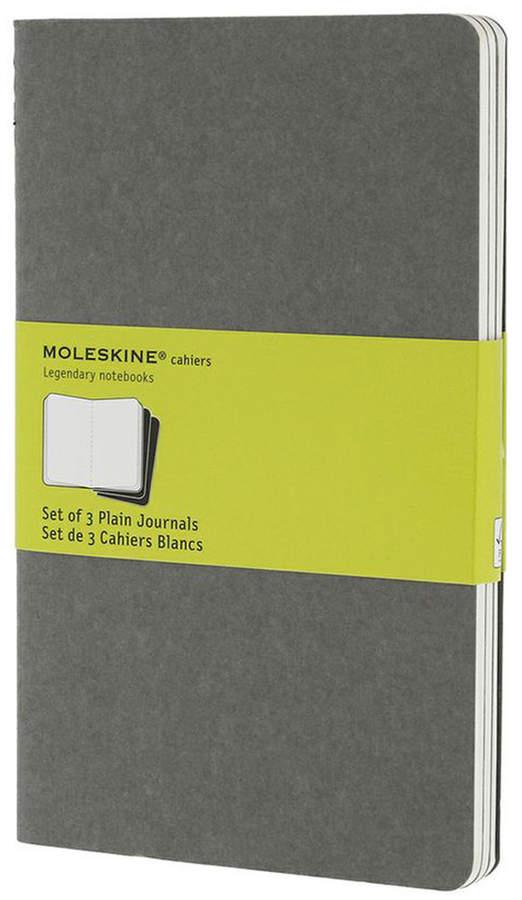 Cahier Large, blanko, warmes Hellgrau (3er-Set)