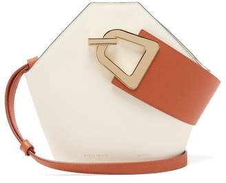 Danse Lente Mini Johnny Bi Colour Leather Shoulder Bag - Womens - Tan White
