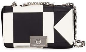 Calvin Klein Billie Colorblock Leather Shoulder Bag