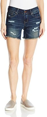 dollhouse Women's Destructed Frayed Shorts $26 thestylecure.com