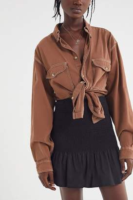 Urban Renewal Vintage Remade Overdyed Denim Button-Down Shirt