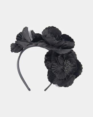 Black Flowers Fascinator
