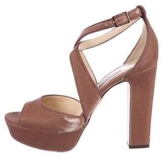 Jimmy Choo Velvet Platform Sandals w/ Tags