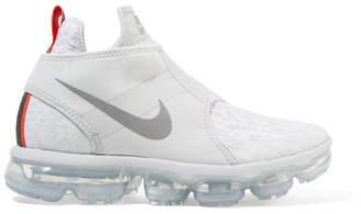 Nike Air Vapormax Chukka Flyknit Slip-on Sneakers - Silver
