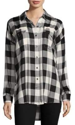 Splendid Check Button-Down Shirt