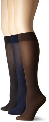 Hue Women's 3 Pair Pack Opaque Trouser Sock