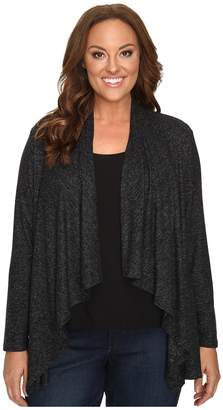 Bobeau B Collection by Plus Size Amie Waterfall Cardigan Women's Sweater