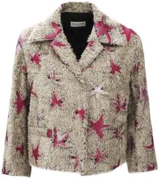Dries Van Noten Beige Jacket With Star Print.