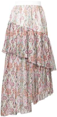 Zimmermann layered asymmetric paisley skirt