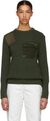 Gosha Rubchinskiy Green Camo Pocket Knit Sweater