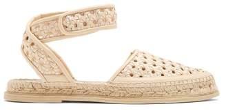 Stella McCartney Woven Wicker Espadrille Sandals - Womens - Light Pink